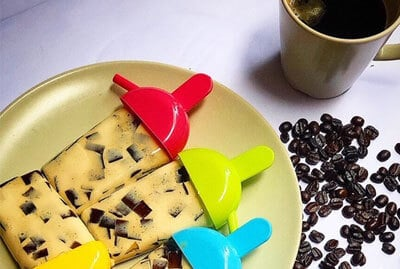 Coffee Jelly Popsicles
