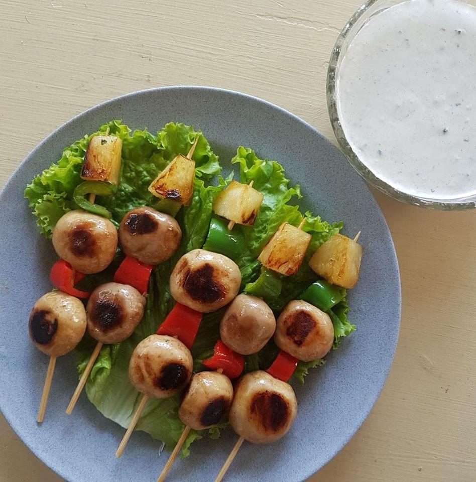 Relish Mushroom Skewers