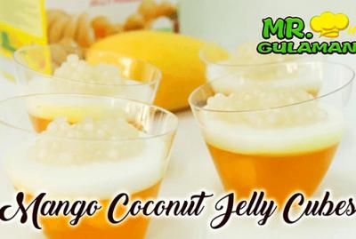 Mango Coconut Jelly Cubes