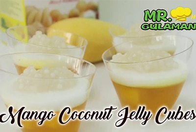 Mr. Hat Gulaman Mango Coconut Jelly Cubes