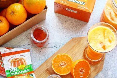 Orange Juice with Chia Jelly