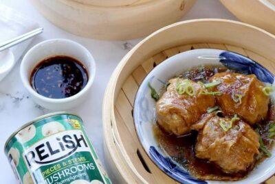 Chinese Mushroom Meatballs with Relish Mushroom