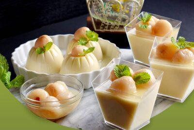 Soya Milk Lychee Pudding